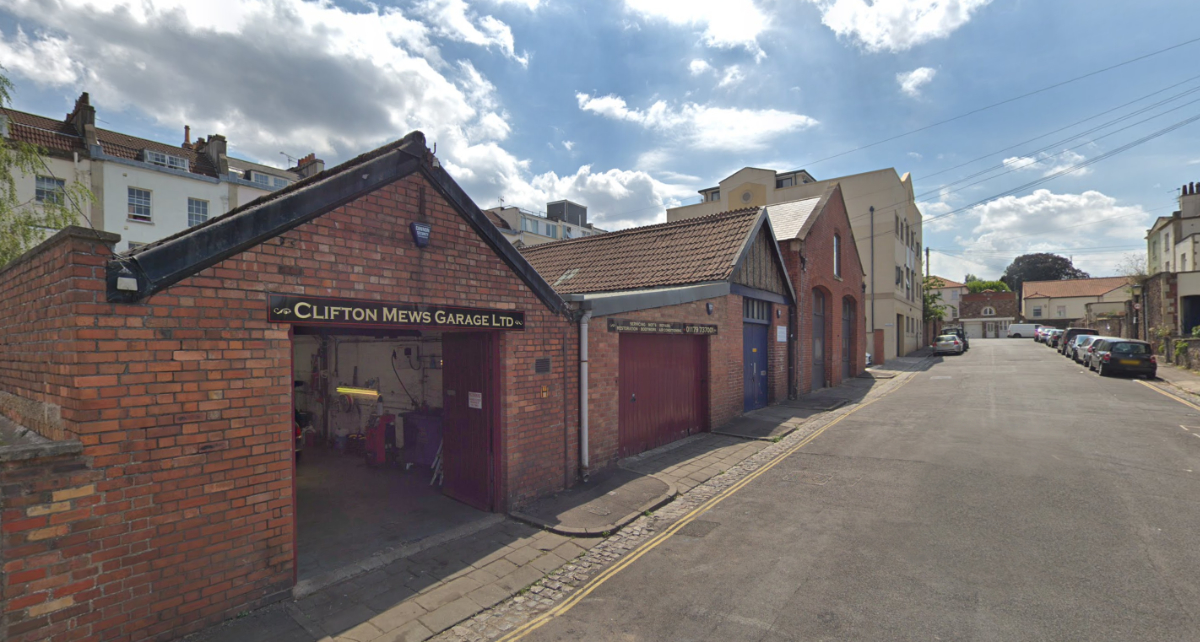 Front of Clifton Mews Garage - MOT & Servicing Bristol